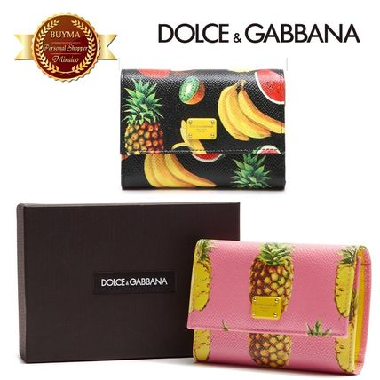 17th SS DOLCE &GABBANA tropical three bifold wallet