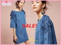 SALE即納☆最安値*関料込【Anthro】Denim Open Shoulder Dress