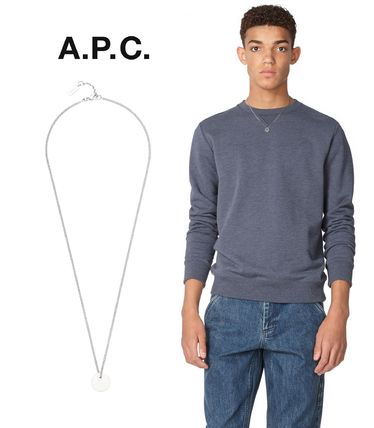 France issued A. P. C. Serge necklace logo engraved silver