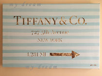 特大サイズOliver Gal 'Jewelry Road Sign 'Tiffany(114×76)