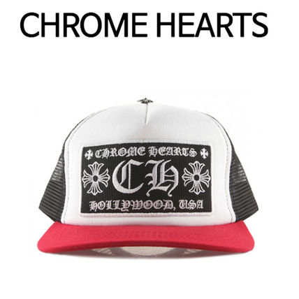 CHROME HEARTS ★ CH PATCH MESH CAP RED WHITE BLACK