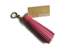 MICHAEL Michael Kors LEATHER CHARMS Tassle Key Fob