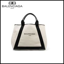 【BALENCIAGA(バレンシアガ)】trimmed canvas tote
