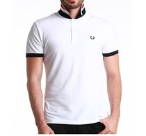 Fred Perry Green Label Men'sストライプ ポロシャツ ?ホワイト