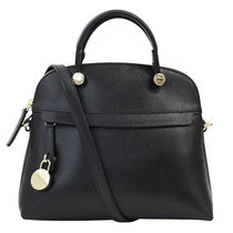 FURLA ハンドバッグ 2WAY PIPER S DOME 835664 BHV0 ONYX