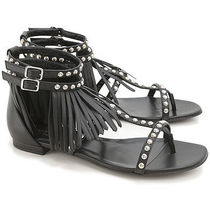 Fringe Studs Leather Sandal レザーサンダル