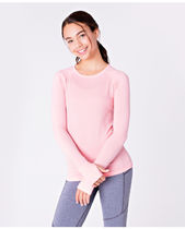 ivivva athletica(イヴィヴァ アスレティカ) スポーツウェア 【 Fly Tech Long Sleeve Tee 】★Heathered Bleached Coral