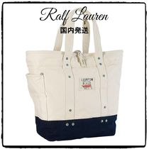 2017SS 国内発 関税込  Ralph Lauren EAST HAMPTON CANVAS TOTE