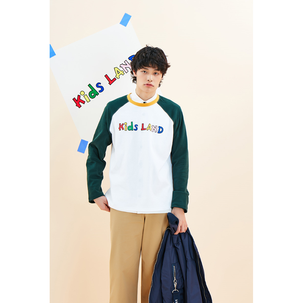 ★韓国の人気★LUV IS TRUE★(UNISEX)KL RAGLAN SEEVE_GN★