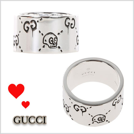 17SS★GUCCI★シルバー GucciGhostリング指輪