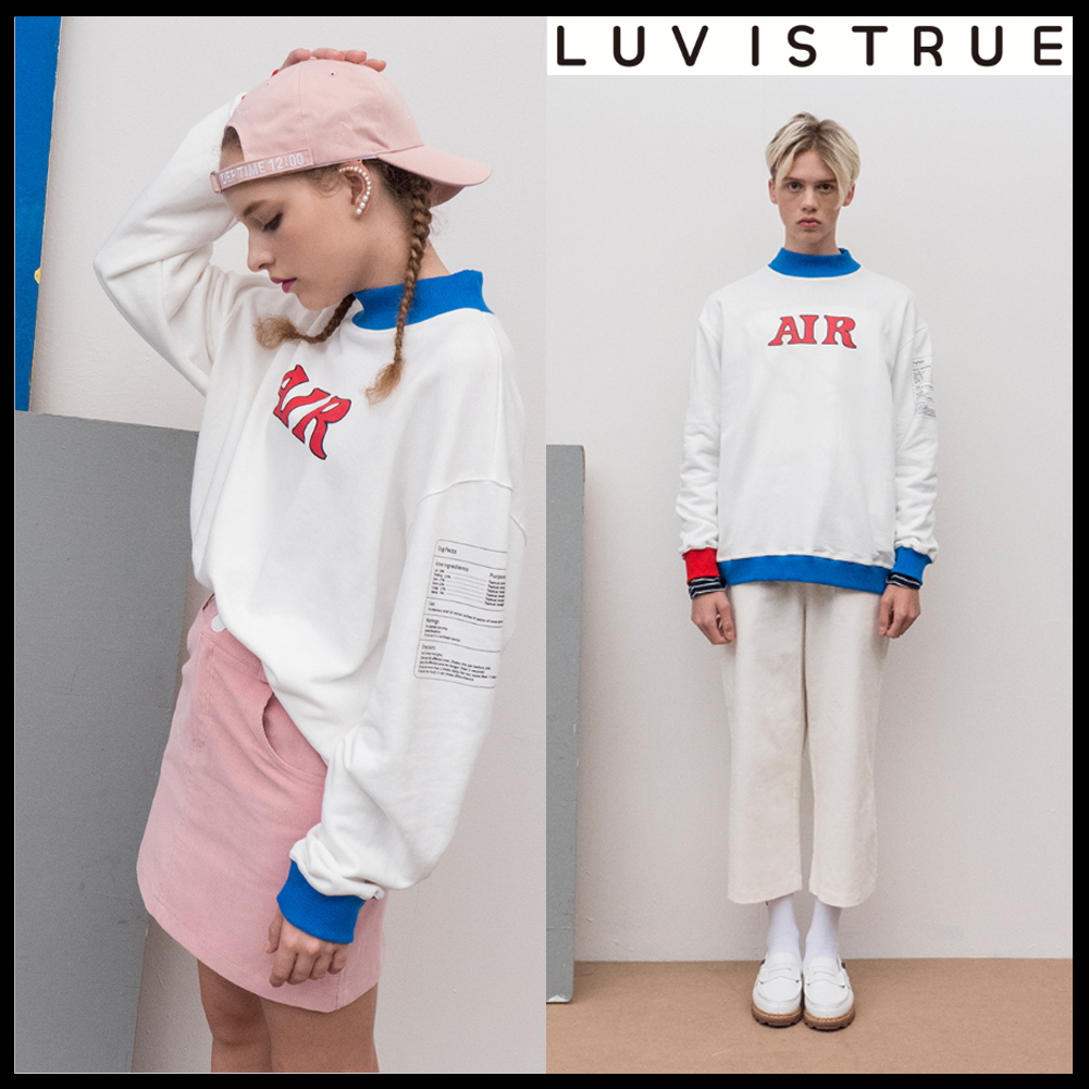 ★韓国の人気★LUV IS TRUE★(UNISEX)AP AIR MTM_WH★