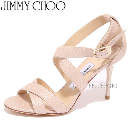 SALE Jimmy Choo nude Sandals made in Italy
