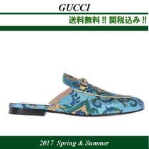 2017SS関税込★GUCCI(グッチ) Princetown brocade slippers