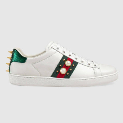 With GUCCI * studded with white sneakers