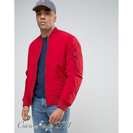 River Island MA1 bomber jacket Red