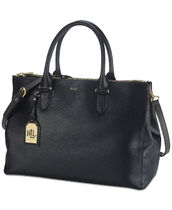 ★Ralph Lauren★Newbury Double Zip Satchel♪関税送料込み