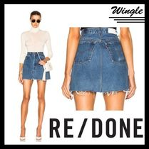 RE DONE(リダン) ミニスカート 『RE/DONE』HIGH RISE ミニスカート【関税送料込】