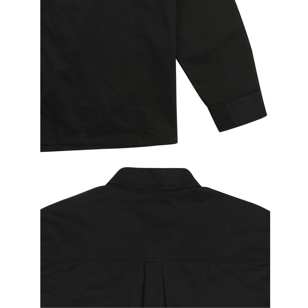 ★韓国の人気★LUV IS TRUE★(UNISEX)SC RULER SHIRT_BK★