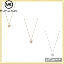 セレブ愛用者多数☆Michael Kors☆Pave Heart Pendant Necklace