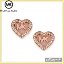 セレブ愛用者多数☆Michael Kors☆ Logo Heart Stud Earrings