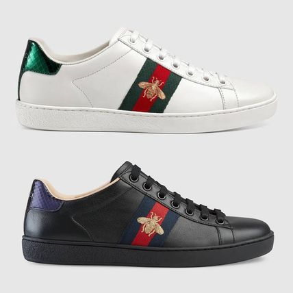 Gucci b embroidery ACE sneakers white / black