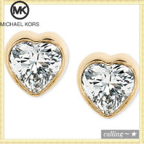 セレブ愛用者多数☆Michael Kors☆Crystal Heart Stud Earrings