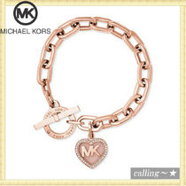 セレブ愛用者多数☆Michael Kors☆Logo Heart Toggle Bracelet