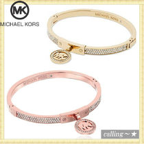セレブ愛用者多数☆Michael Kors☆PaveHinged Bangle Bracelet