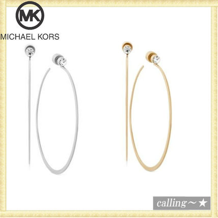 セレブ愛用者多数☆Michael Kors☆Accented Large Hoop Earrings