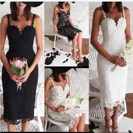 Total summer party dress lace lined with car middles floral