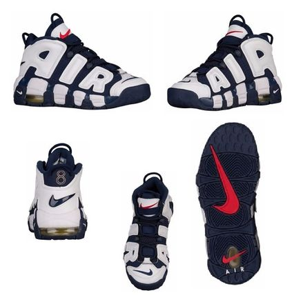 Nike スニーカー 【待望の再入荷】レディスOK!Kids size Nike Air More Uptempo(6)