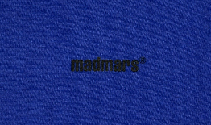 ★MDMS By MADMARS★RAGLAN SLOGAN T-SHIRTS (BLUE)
