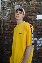 ★MDMS By MADMARS★RAGLAN SLOGAN T-SHIRTS (YELLOW)