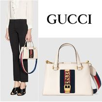 2017 SS GUCCI シルヴィ レザートートバッグ
