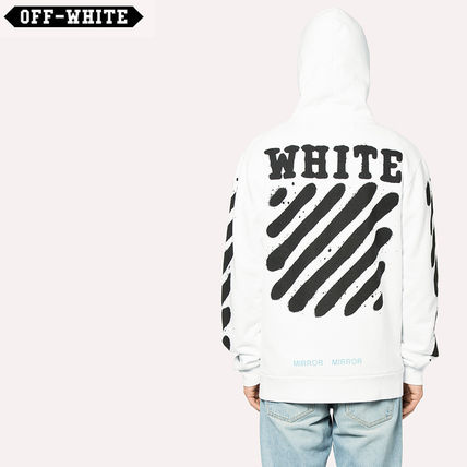 Off-White 17 AW spray logo zip parka