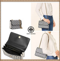 SALE☆TORY BURCH★WOVEN-LEATHER CONVERTIBLE SHOULDER BAG
