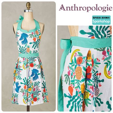 2017 SS Anthropologie tropical fruit print apron.