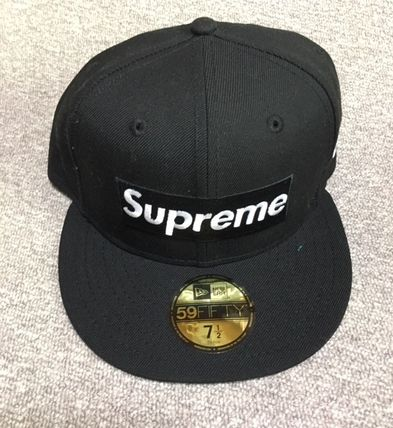 Black Supreme 17ss playboy box logo NEW ERA