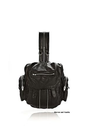 ALEXANDER WANG MINI MARTI BACKPACK IN WASHED BLACK and