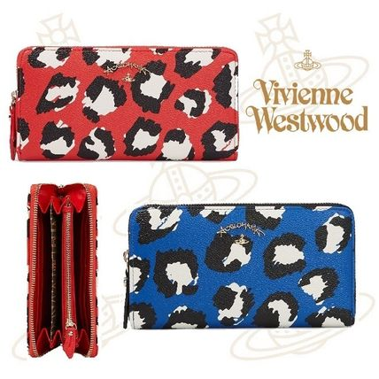 17th SS Vivienne Westwood LEICESTER Leopard long wallet /