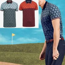 TED BAKER(テッドベイカー ) メンズ・トップス 春夏最新作★Colour-block golf ball print polo shirt