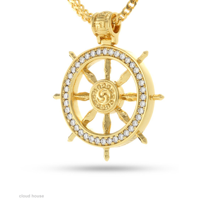 King Ice★The 14K Gold Dharma Wheel Necklace★送料税込/国内