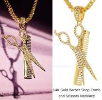 King Ice★Barber Shop Comb and Scissors Necklace★送料税込
