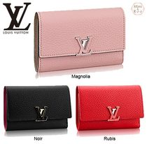 Louis Vuitton☆PORTEFEUILLE CAPUCINES COMPACT*折りたたみ財布