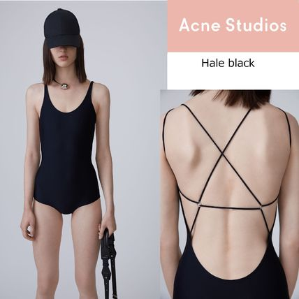 Acne Hale black quick dry high-performance UV protection
