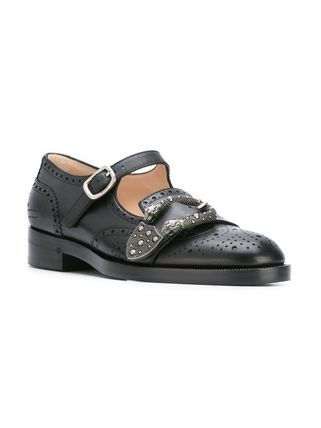 ☆国内発☆GUCCI/Queercore embellished leather brogues