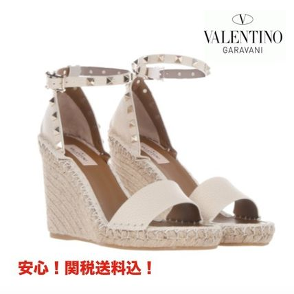 VALENTINO rock studded wedge Sandals 17 SS