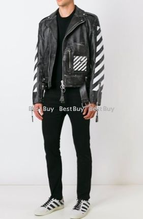 OFF-WHITE arrow print riders jacket