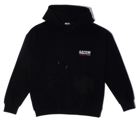 ★JUSTO★ スターも愛用 ANTIRACISM HOODIE 2カラー