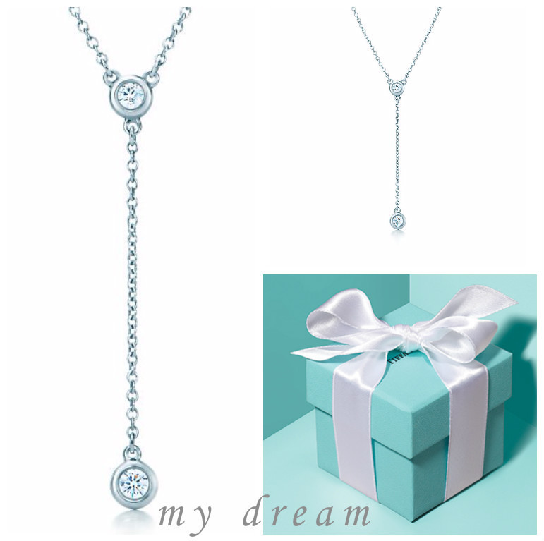 日本未入荷【Tiffany & Co】By The Yard Necklace .12ct